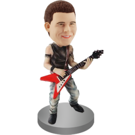 Flying-v Guitar Player Bobble Head
