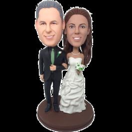 Geen Tie Wedding Cake Topper