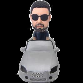 Man in Audi Car