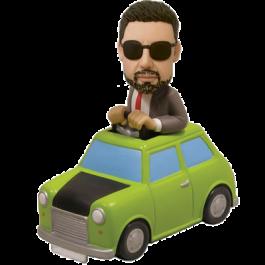 Man in Green Car