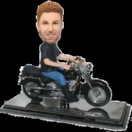 Man in Harley Bike