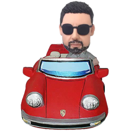 Man in Red Car
