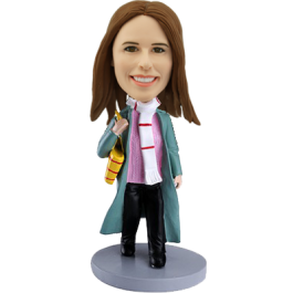Personalized Bobblehead Shopping Girl