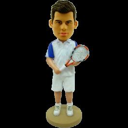 Personalized Bobblehead Tennis Man