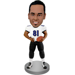 Personalized Football Player Bobble