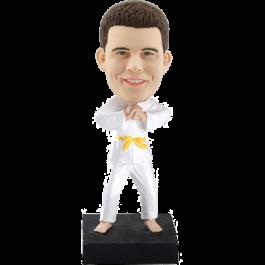 Personalized Judo Bobble Head Doll