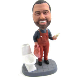 Personalized Plumber Bobble