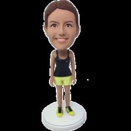 Personalized Sport Girl Bobble Head