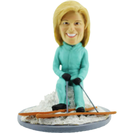 Skiing Lady