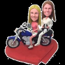 Sport Sisters on Motor Custom Bobbleheads