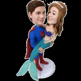 Superman and Mermaid Bobbleheads