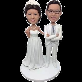 White Suit Wedding
