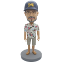 Custom Bobblehead Man in Hawaiian Shirt