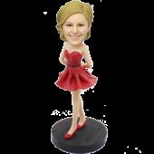 Betty Boop Style Custom Bobblehead