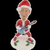 Personalized Christmas Guitarist Bobblehead