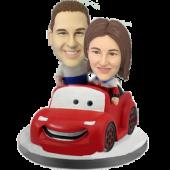 Couple in Car Custom Bobble Heads