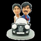 Couple in Car Custom Bobbles