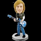 Bass Guitar Player Custom Bobble Head