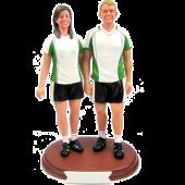 Soccer Couple Cake Topper