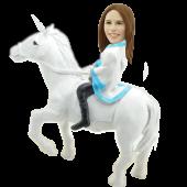 Girl on Unicorn Custom Bobblehead