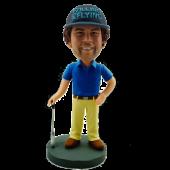 Golfing Buddy Custom Bobble Head