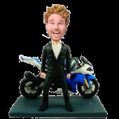 Man and Motorcycle Custom Bobblehead