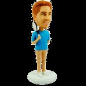 Man Taking Tennis Racket Custom Bobblehead