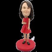 Red Skirt Girl Custom Bobblehead