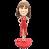 Slip Dress Girl Custom Bobblehead
