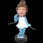 Smurfette Girl Custom Bobblehead