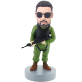 Soldier Personalized Bobblehead