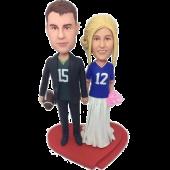 Sport Fans Couple Bobbleheads