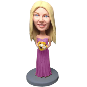 Violet Dress Bridesmaid