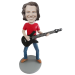 Bass Guitar Player Custom Bobblehead