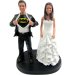 Custom Batman Theme Wedding Cake Topper