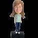 Personalized Female Nurse Bobble Head
